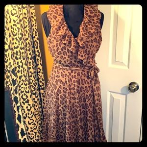 Lauren by Ralph Lauren Dress leopard print EUC